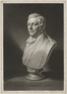 Charles Warren, by Samuel William Reynolds, published by  Colnaghi & Co, after  William Behnes - NPG D37849
