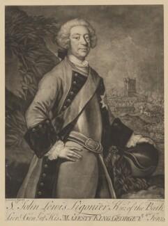 John Ligonier, 1st Earl Ligonier, by John Brooks, after  James Latham - NPG D37334