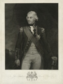 Sir John Borlase Warren, by James Fittler, published by  John Boydell, published by  Josiah Boydell, after  Mark Oates - NPG D37851