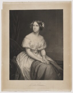 Jenny Lind, by Hermann Dröhmer (Droehmer), published by  Henry Graves & Co, after  Eduard Magnus, published 1 May 1849 (1846) - NPG D37341 - © National Portrait Gallery, London