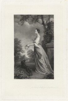 Lady Jane Warren (née Revell), by Frederick Bromley, after  Sir Joshua Reynolds - NPG D37855