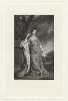 Lady Frances Warren (née Bisshopp), by Frederick Bromley, published by  Henry Graves & Co, after  Sir Joshua Reynolds - NPG D37856