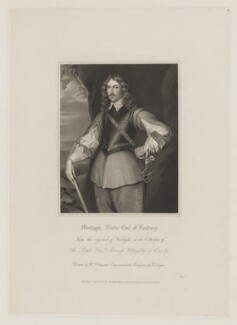 Montague Bertie, 2nd Earl of Lindsey, by Robert Cooper, published by  Harding, Triphook & Lepard, after  William Derby, after  Sir Anthony van Dyck - NPG D37346
