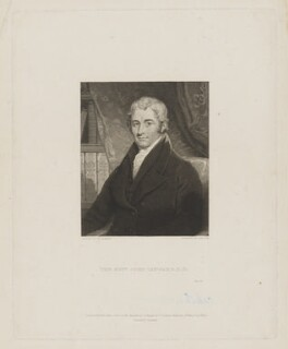 John Lingard, by Charles Fox, printed by  Tomkins, published by  Colnaghi & Co, published by  Anthony Molteno, after  James Ramsay - NPG D37351
