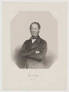 John Lindley, by Thomas Herbert Maguire, printed by  M & N Hanhart - NPG D37353
