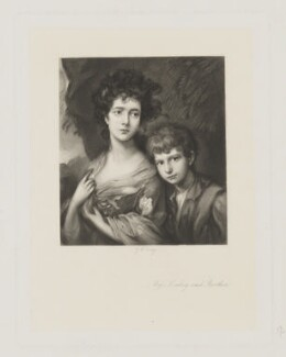 Elizabeth and Thomas Linley, by George H. Every, after  Thomas Gainsborough - NPG D37356