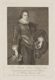 Sir Martin Lister, published by William Richardson, after  Robert White - NPG D37361