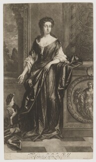 Charlotte Lee (née Fitzroy), Countess of Lichfield, by and published by Isaac Beckett, after  Sir Godfrey Kneller, Bt - NPG D37366