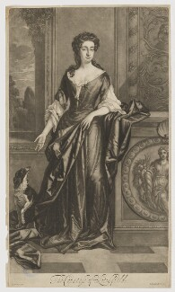Charlotte Lee (née Fitzroy), Countess of Lichfield, by and published by Isaac Beckett, after  Sir Godfrey Kneller, Bt - NPG D37367