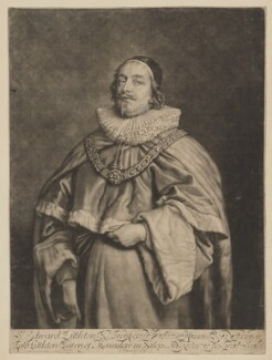 Edward Littleton, Baron Littleton, by Robert Williams, after  Sir Anthony van Dyck - NPG D37370