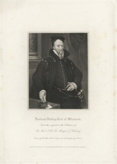 Ambrose Dudley, 3rd Earl of Warwick, by Edward Scriven, published by  Lackington, Hughes, Harding, Mavor & Jones, published by  Longman, Hurst, Rees, Orme & Brown, after  William Hilton - NPG D37869