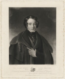 George Guy Greville, 4th Earl of Warwick, by Charles Edward Wagstaff, published by and after  F. Rosenberg - NPG D37870