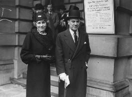 Blanche Isabella (née Lascelles), Lady Lloyd; George Ambrose Lloyd, 1st Baron Lloyd, by Edward Malindine, for  Daily Herald - NPG x74794