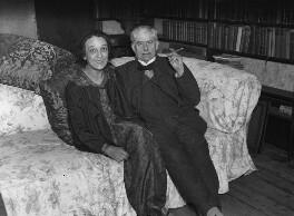 Thérèse Lessore; Walter Richard Sickert, by George Woodbine, for  Daily Herald - NPG x74800