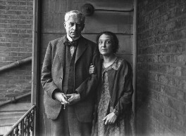 Walter Richard Sickert; Thérèse Lessore, by George Woodbine, for  Daily Herald - NPG x70976