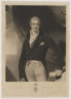 Robert Stewart, 2nd Marquess of Londonderry (Lord Castlereagh), by and published by Charles Turner, after  Sir Thomas Lawrence, published 20 September 1814 (1809-1810) - NPG D37412 - © National Portrait Gallery, London
