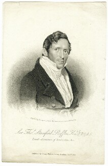 Sir Thomas Stamford Bingley Raffles, by James Thomson (Thompson), published by  Henry Fisher - NPG D38020
