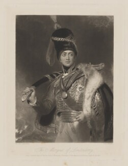 Charles William Vane-Stewart, 3rd Marquess of Londonderry, by William Henry Simmons, published by  Graves & Warmsley, after  Sir Thomas Lawrence, published 15 April 1841 (1812) - NPG D37415 - © National Portrait Gallery, London