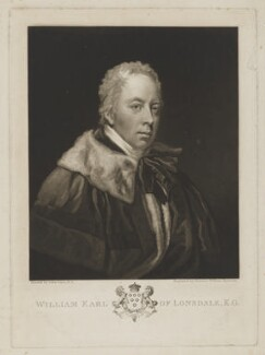 William Lowther, 1st Earl of Lonsdale, by Samuel William Reynolds, after  John Opie - NPG D37433