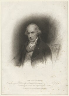 James Watt, by Charles Picart, published by  T. Cadell & W. Davies, after  William Evans, after  Sir William Beechey - NPG D37897