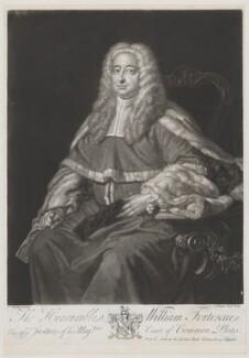 William Fortescue, by John Faber Jr, after  Thomas Hudson - NPG D37756