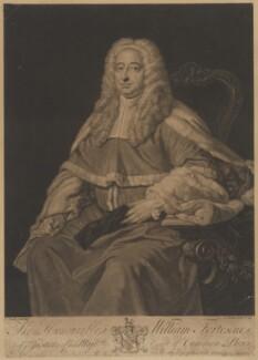 William Fortescue, by John Faber Jr, after  Thomas Hudson - NPG D37758