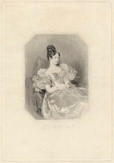 Priscilla Maden ('Zillah') Watts (née Wiffen), by J. & W. Watt, published by  Whitaker & Co, after  Alfred Edward Chalon - NPG D37903