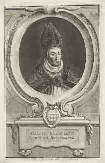 William Waynflete, by Jacobus Houbraken, published by  John & Paul Knapton - NPG D37905