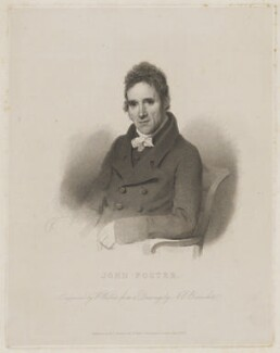 John Foster, by William Walker, published by  B.J. Holdsworth, after  Nathan Cooper Branwhite - NPG D37765