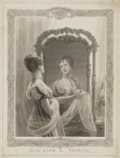 Emma Sarah Love (Mrs Calcraft) as Vespina in Bishop and Payne's 'Clari', by and published by Thomas Woolnoth, printed by  McQueen (Macqueen), after  Thomas Charles Wageman - NPG D37455