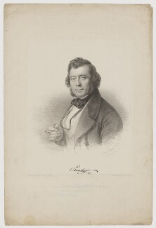 Samuel Lover, by Charles Baugniet, printed by  M & N Hanhart, published by  Leader & Cock, published by  Duff & Hodgson - NPG D37459