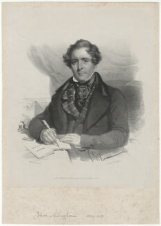Thomas Waghorn, by Day & Haghe, published by  Leggatt & Co, after  Charles Baxter - NPG D37969