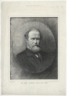 John Lubbock, 1st Baron Avebury, by Moritz Klinkicht, supplement to the  Illustrated London News, after  Francis Henry Hart, for  Elliott & Fry - NPG D37474