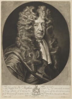 Sir Stephen Fox, by John Simon, published by  John Smith, after  John James Backer - NPG D37789