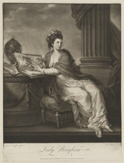 Margaret Bingham (née Smith), Countess of Lucan, by James Watson, printed and published by  James Bretherton, after  Angelica Kauffmann - NPG D37478
