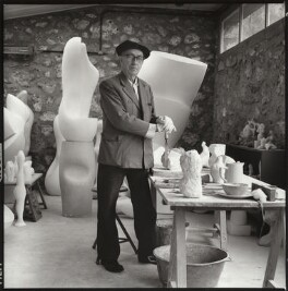 Jean Arp, by Ida Kar, 1960 - NPG  - © National Portrait Gallery, London