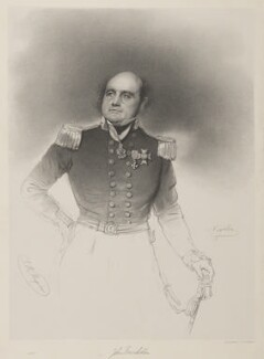 Sir John Franklin, by Thomas Herbert Maguire, printed by  M & N Hanhart, after  Joseph Mathias Negelen - NPG D37795