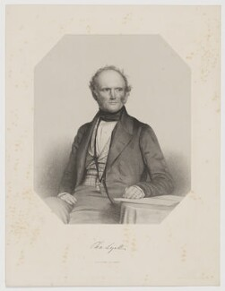 Sir Charles Lyell, 1st Bt, by Thomas Herbert Maguire, printed by  M & N Hanhart - NPG D38030