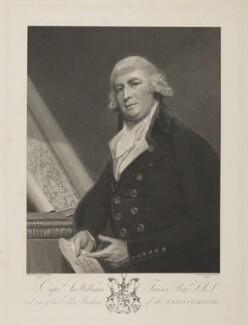 Sir William Fraser, 1st Bt, by Benjamin Smith, after  George Romney - NPG D38426