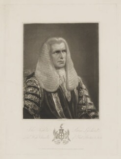 John Singleton Copley, Baron Lyndhurst, by Thomas Woolnoth, published by  Charles Sweet - NPG D38037