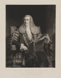 John Singleton Copley, Baron Lyndhurst, by George Thomas Payne, published by  Thomas McLean, after  Henry William Pickersgill - NPG D38038