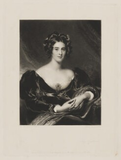 Sarah Garay Copley (née Brunsden), Lady Lyndhurst, by Samuel Cousins, published by  Hodgson & Graves, after  Sir Thomas Lawrence - NPG D38041