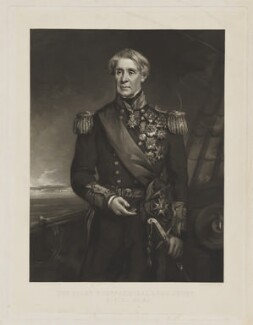 Edmund Lyons, 1st Baron Lyons, by George Zobel, published by  Paul and Dominic Colnaghi & Co, after  Richard Buckner - NPG D38046
