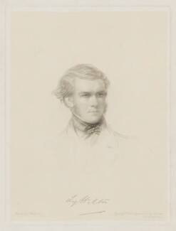 George William Lyttelton, 4th Baron Lyttelton, by Frederick Christian Lewis Sr, after  George Richmond - NPG D38055