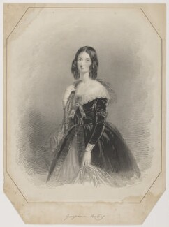 Georgiana Freeling (née Oddie), by A. Picken, printed by  Day & Haghe, after  Charlotte Farrier - NPG D38429