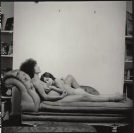 'Mother and Child' (Hanja Kochansky with her daughter Katya Cobham (née Bebb)), by Ida Kar - NPG x132993