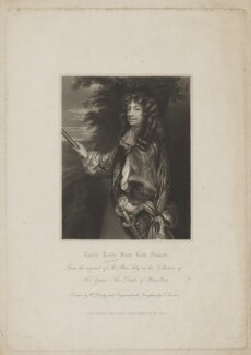 Charles Gerard, 1st Earl of Macclesfield, by Edward Scriven, published by  Harding & Lepard, after  William Derby, after  Sir Peter Lely - NPG D38066