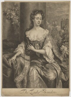 Anne Gerard (née Mason), Countess of Macclesfield when Viscountess Brandon, by John Smith, published by  Edward Cooper, after  Willem Wissing - NPG D38067