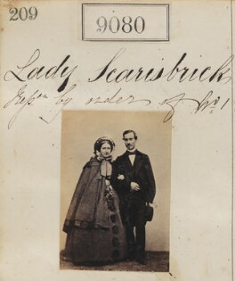 'Reproduction by order of Lady Scarisbrick' (two unknown sitters), by Camille Silvy - NPG Ax58902