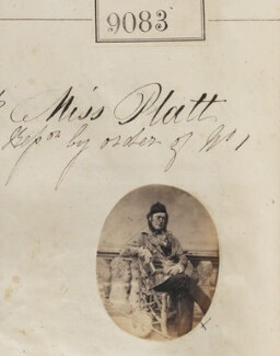 'Reproduction by order of Miss Platt', by Camille Silvy - NPG Ax58905